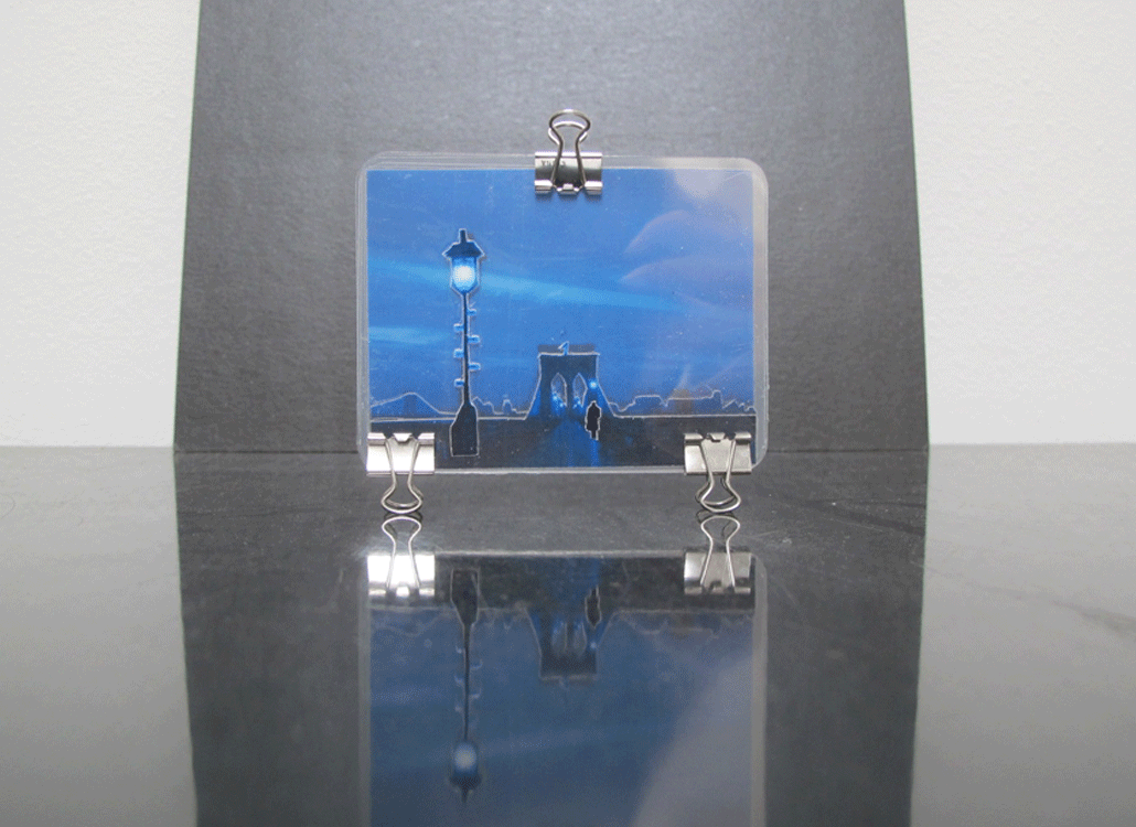 Art in Binder Clips: Brooklyn Bridge