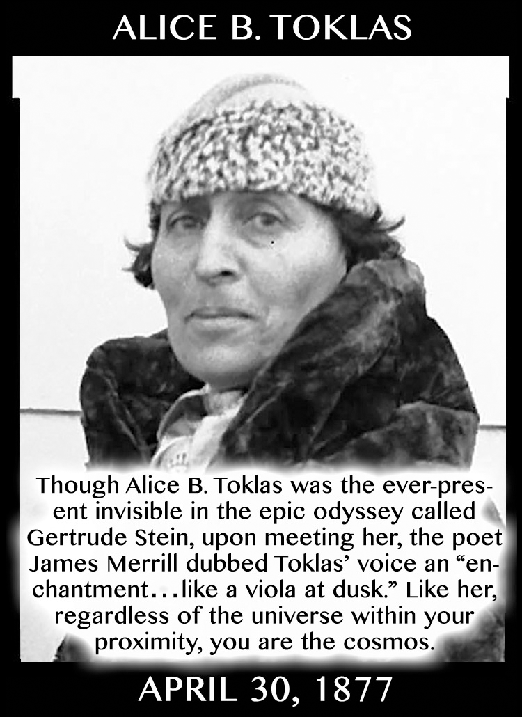 Taurean Compliments: Alice B. Toklas