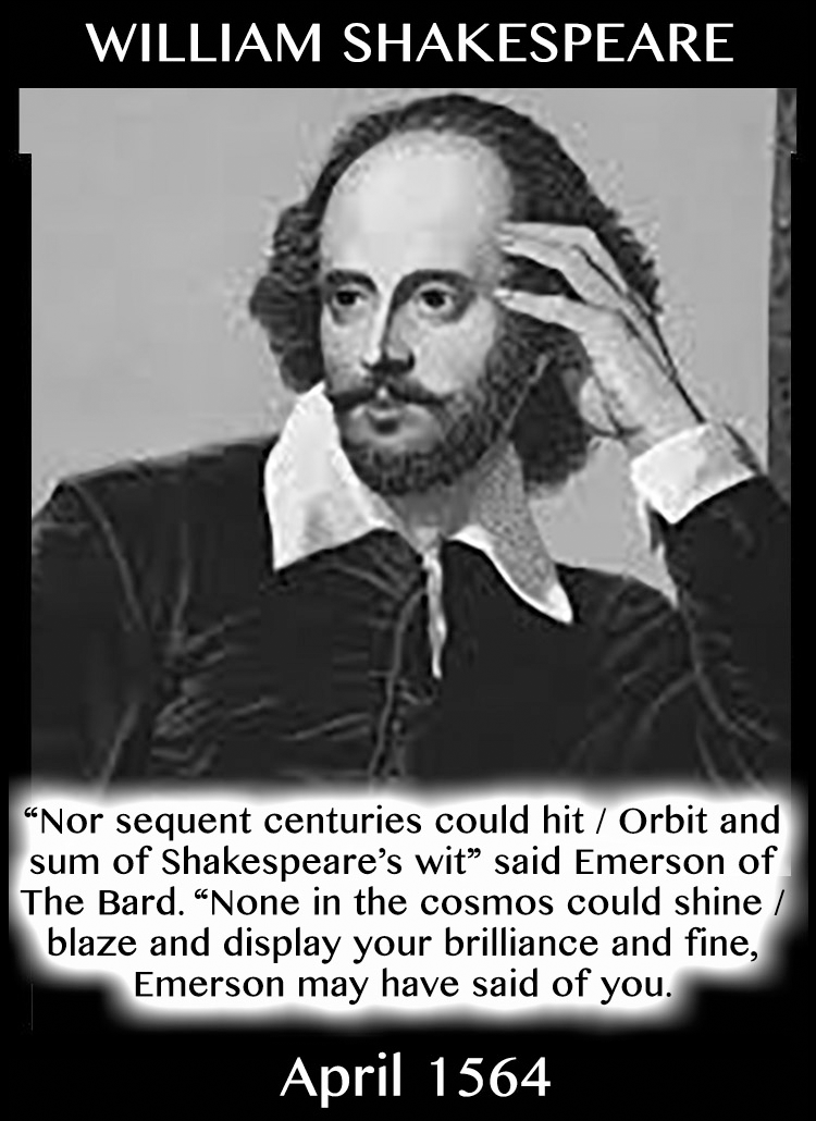Taurean Compliments: William Shakespeare