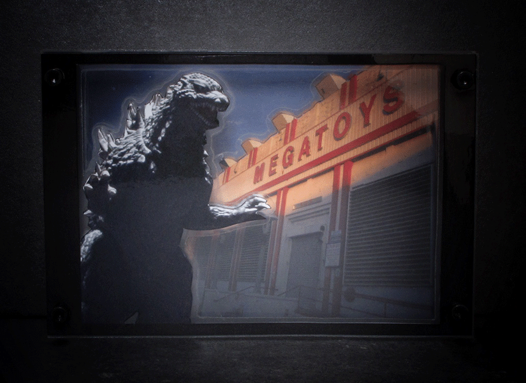 Godzilla in LA - I am not a megatoy, I am a free whale-ape!